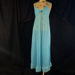 vintage blue slip nightgown from the 1960's